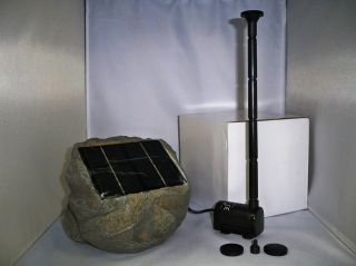 WIRELESS SOLAR POWERED SUBMERSIBLE WATER FOUNTAIN 53GPH SPRAY PUMP