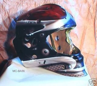 Learn HOW TO AIRBRUSH Hockey helmet mask goalie DVD kit air brush