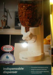 White Canister Children Cereal Dispenser Baby gift housewarming Gift