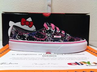 VANS Authentic Hello kitty Black PssnFlwr VN 0QER66Y Sz 4.5 8 NIB