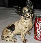ANTIQUE CAST IRON HUBLEY FRENCH BULL DOG HOME GARDEN DOORSTOP ART