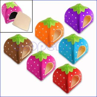 Cozy Strawberry Sponge Cat Pet Dog Home Bed Kennel House Cushion