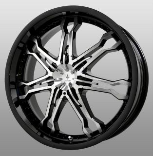 20 inch Verde Calibre Black Wheels Rims 5x4.5 Mustang Escape Explorer
