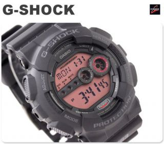 Casio G Shock X Large Big Dial Mens Black Resin Digital Watch GD 100MS