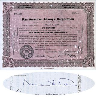 Pan American Airways I/S CBS Founder William S. Paley