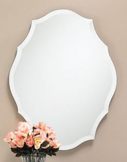 NEW FRAMELESS BEVELED MIRROR WALL BATHROOM HOUSE HOME WITH BACKING