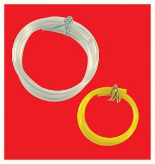 Gas fuel line hose 1/16 clear 3/32 yellow line twin pack chainsaw