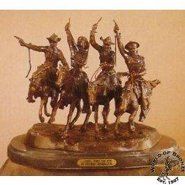 COMING THRU THE RYE  by Frederic Remington Bronze Handcast