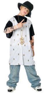 RAPSTA Rap Star Artist Gangsta Hip Hop Gangster Child Large Costume
