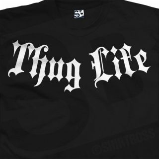 Thug Life Addiction T Shirt   Gangster Tupac 2Pac   All Sizes & Colors
