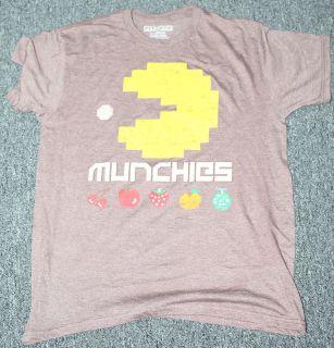 Pac Man Pacman Brown Munchies Arcade Game Classic Brown Retro T shirt