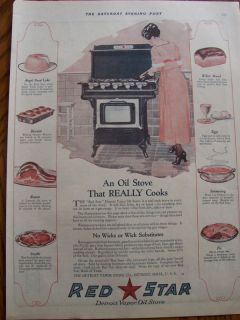 1920 Red Star Detroit Vapor Oil Stove Advertisement