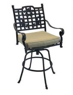 Maison Jardin Outdoor Bar Stool With Cushion Frontgate