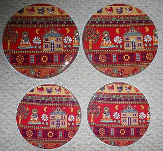 Stove Burner Covers Set of 4 Vintage Country Chicken Bless Our House