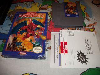 Gargoyles Quest II The Demon Darkness 2 NES Nintendo Game w/ Box