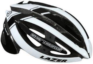 Lazer Genesis Black White L 58.5 61.5 Helmet Bike Bicycle Road