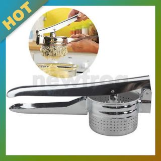 Potato Ricer Masher Stainless Steel Basket Press Juicer Utensil