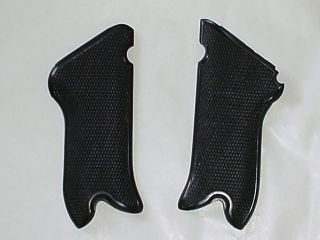 GERMAN ARMY WWII WW2 REPRO P 08 LUGER PISTOL GRIPS BLK