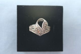 sterling silver marcasite ring in Jewelry & Watches