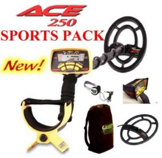 GARRETT ACE 250 DELUXE SPORTS METAL DETECTOR PACKAGE