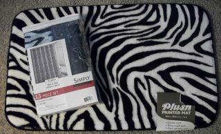 zebra bath mat in Bathmats, Rugs & Toilet Covers