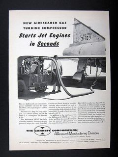 AiResearch GTC85 Gas Turbine Compressor Jet Engine Starter 1954 Ad