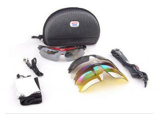 Riding Bicycle Bike Sports Sun Glasses Eyewear Goggle 5pcs lens