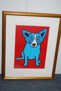 FTI George Rodrigue Blue Dog Red, Hot and Blue Print 1992