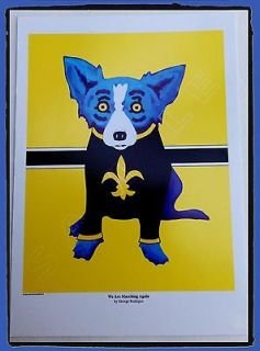 RODRIGUE BLUE DOG SAINTS WE ARE MARCHING AGAIN POSTCARD POSTER CARD