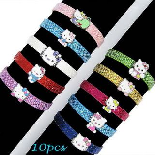 New 2012 10PCS Cute Hello Kitty DIY Bracelet Kids Christmas Favous Bag