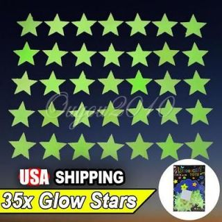 35X Glow in The Dark Stars Decal Art Wall Stickers Kids Room Decor
