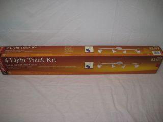 Portfolio 4 Light Track Kit w/ Glass Shades  Track Lighting NiB