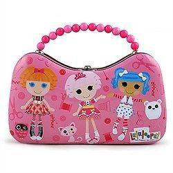 LaLaLoopsy La La Loopsy Tin Lunch Box, purse clutch, Sandwich Bag