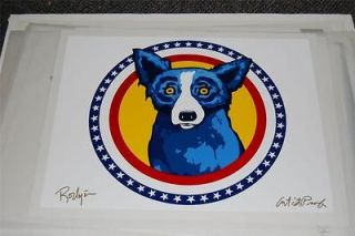 FTI George Rodrigue Blue Dog Pick of the Litter AP Rare 1996