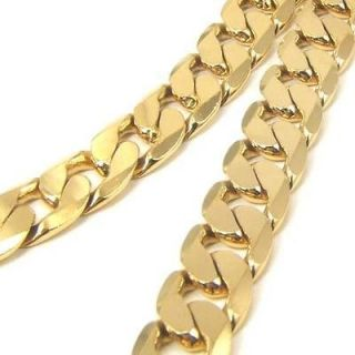 mens solid gold necklace in Jewelry & Watches