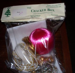 Cracker Box Ornament Kit Bravo 3 Hot Pink Satin Ball