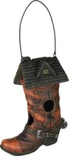 Cowboy boot Bird house With Clean out,Wildlife Creations, 635