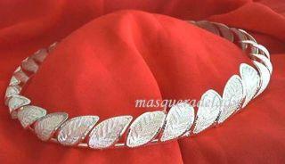 silver tone leaf roman wreath tiara crown goddess costume accessory