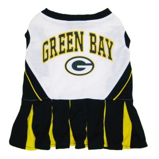 NFL Green Bay Packers Cheerleader Dog Pet Dress Sports Costume   Small