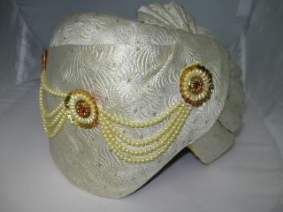 Swami Turban Ivory ~ costume sheik, genie, sultan, snake charmer