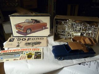 1950 Ford AMT Unbuilt 1/25 Model Kit Vintage Convertible 1960s Rare
