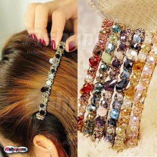 New Multiclolor Full Crystal Rhinestone Stunning Hairpin Hair Clip