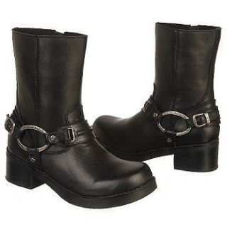 HARLEY DAVIDSON MAYA WOMENS LEATHER RIDING BOOT SHOES ALL SIZES