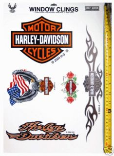 HARLEY DAVIDSON LOT OF WINDOW CLINGS DECALS