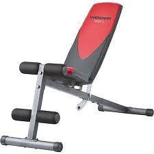 Weider Pro 225 L Mulit Position Bench Weight Lifting Exercise Workout