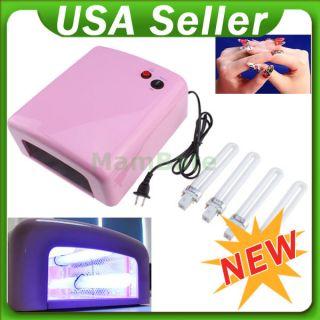 Gel Shellac Acrylic Curing Nail Polish Timer Dryer Lamp Light Spa Kit