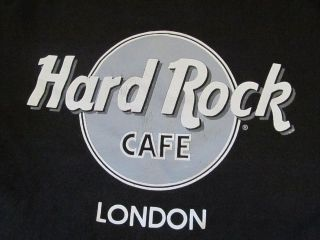 Hard Rock Cafe London Black Graphic Gray Tshirt Tee T Shirt L