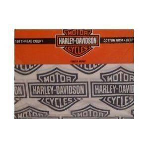 HARLEY DAVIDSON SHIELD LOGO SHEETS   NIP   1Q   180 TC   TWIN   FULL