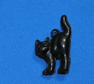 VTG HARD PLASTIC HALLOWEEN SCAREDY CAT CRACKER JACK CANDY CHARM