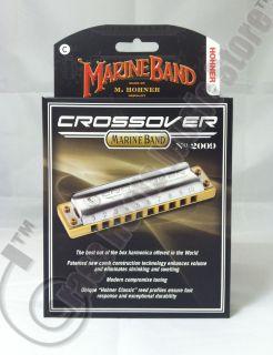 HOHNER Marine Band CROSSOVER Diatonic HARMONICA Key of C M2009BX NEW